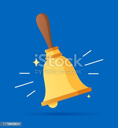 Ringing a bell service help concept.