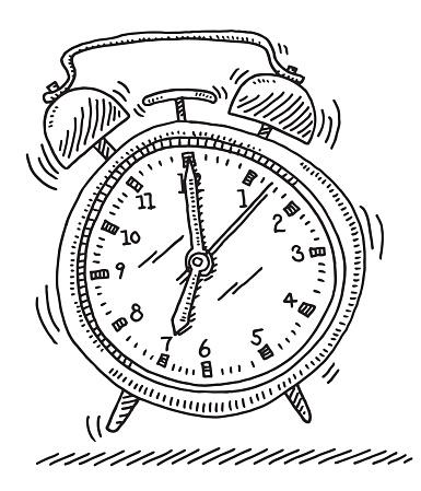 Ringing Alarm Clock Drawing