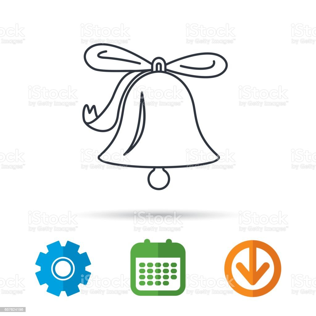 Ringing Bell Icon Sound Handbell Sign Stock Illustration - Download