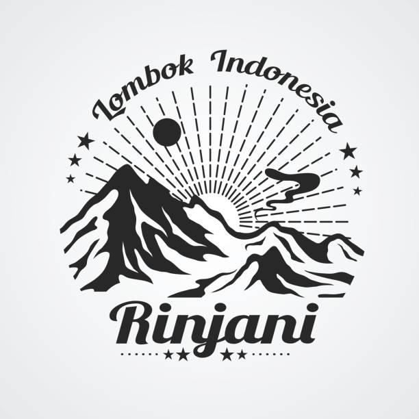 rinjani mountain - lombok stock-grafiken, -clipart, -cartoons und -symbole