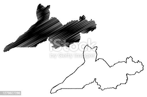 istock Rio Branco City and Municipality (Federative Republic of Brazil, Acre State) map vector illustration, scribble sketch City of Rio Branco map 1279627286