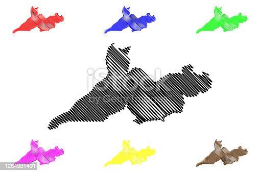 istock Rio Branco City and Municipality (Federative Republic of Brazil, Acre State) map vector illustration, scribble sketch City of Rio Branco map 1284931491