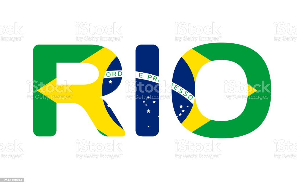Rio Brazil Abstract Colorful Background. vector art illustration