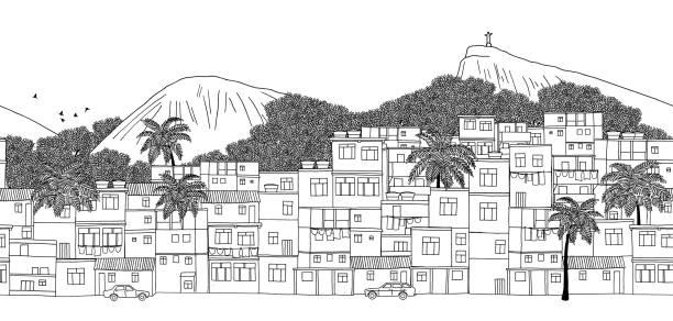 Rio de Janeiro, Brazil vector art illustration