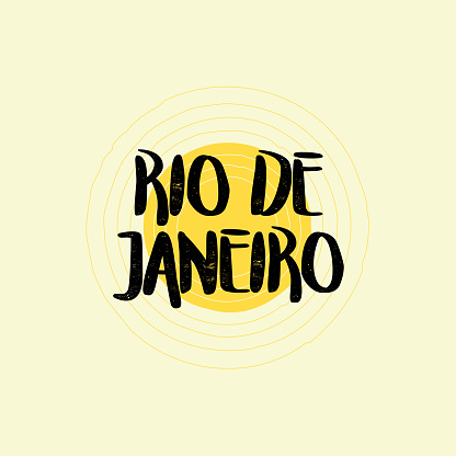 Rio De Janeiro Lettering Design