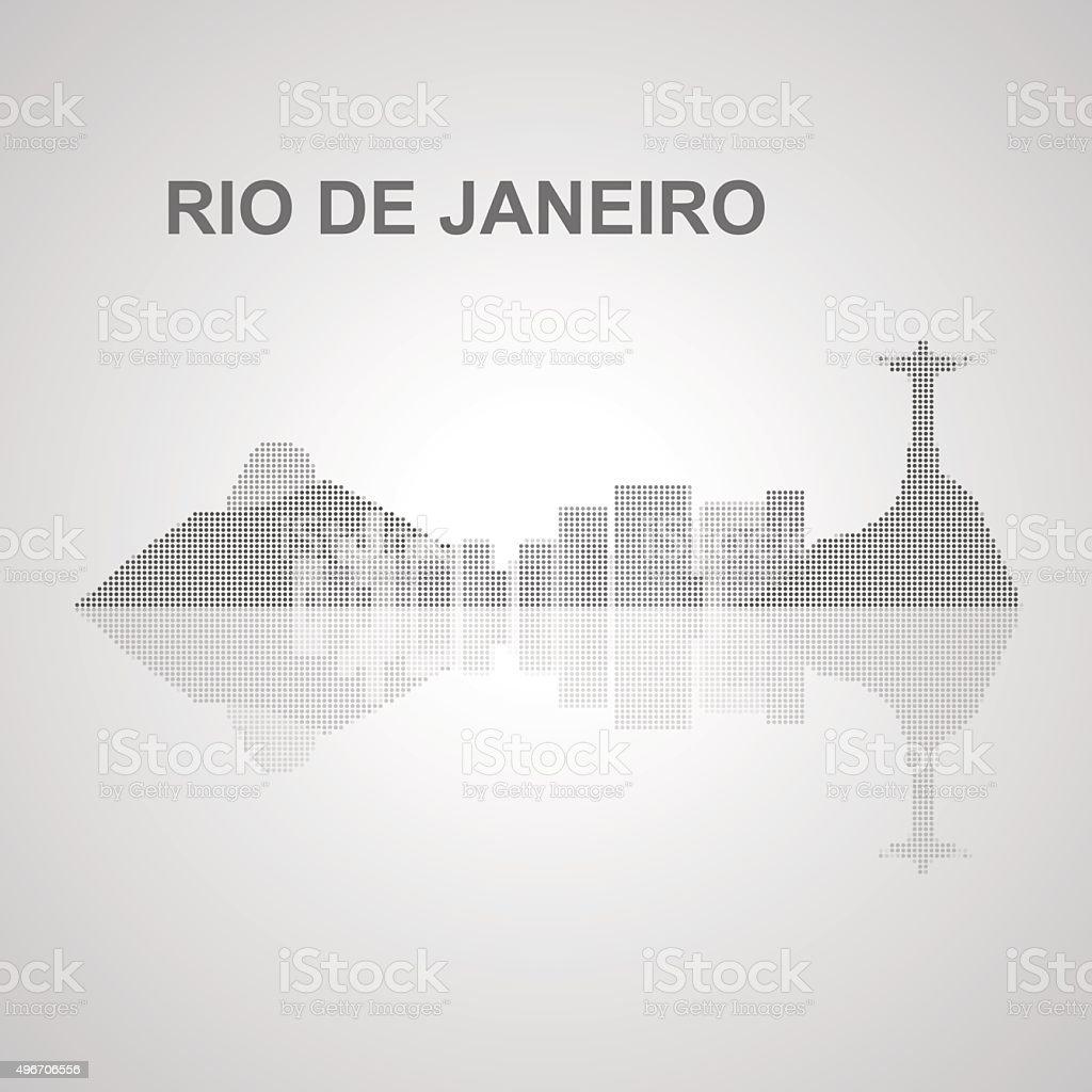 Rio de Janeiro skyline  for your design vector art illustration