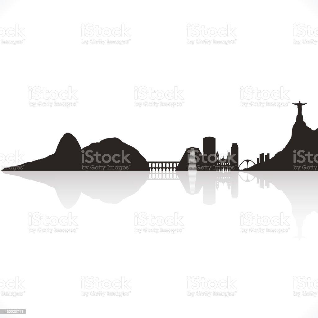 Rio De Janeiro skyline royalty-free rio de janeiro skyline stock vector art & more images of architecture