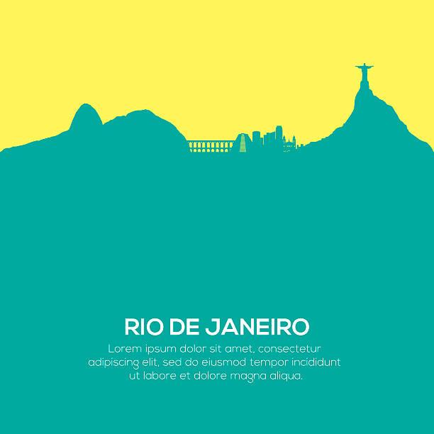 Rio De Janeiro-skyline – Vektorgrafik