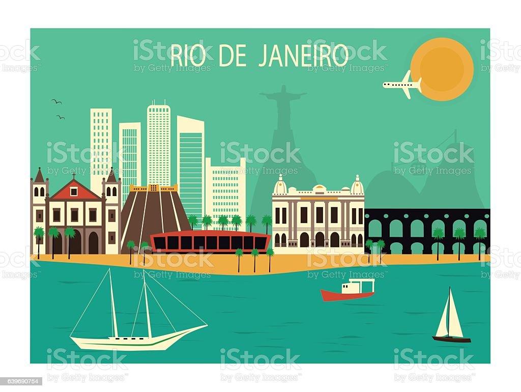 Rio de Janeiro. vector art illustration