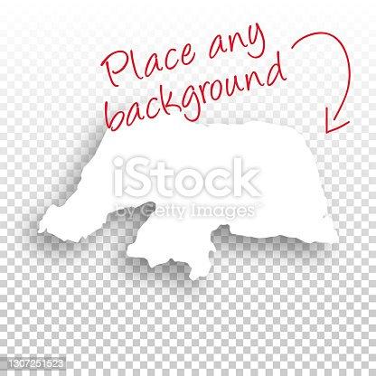 istock Rio Grande do Norte Map for design - Blank Background 1307251523