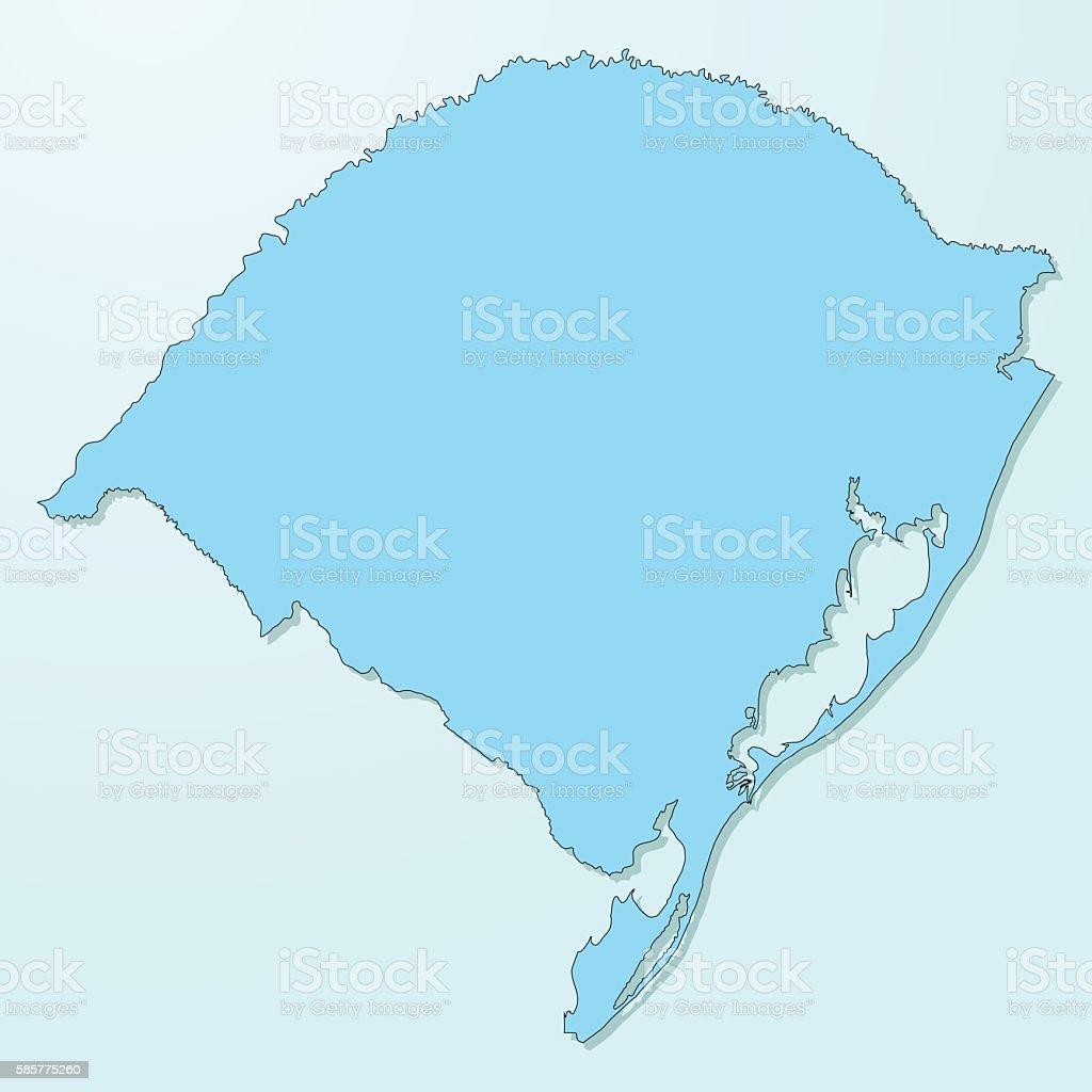 Rio grande do sul blue map on degraded background vector vector art illustration