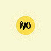 Rio Lettering Design