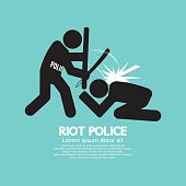 Riot Police Black Symbol Graphic
