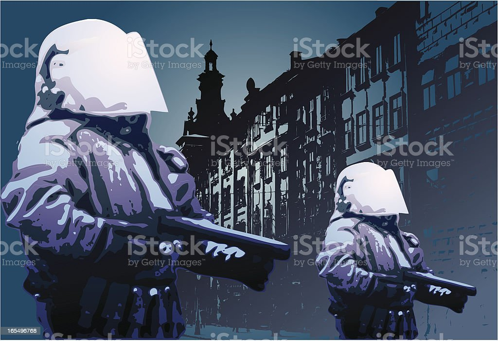 riot police royalty-free stock vector art