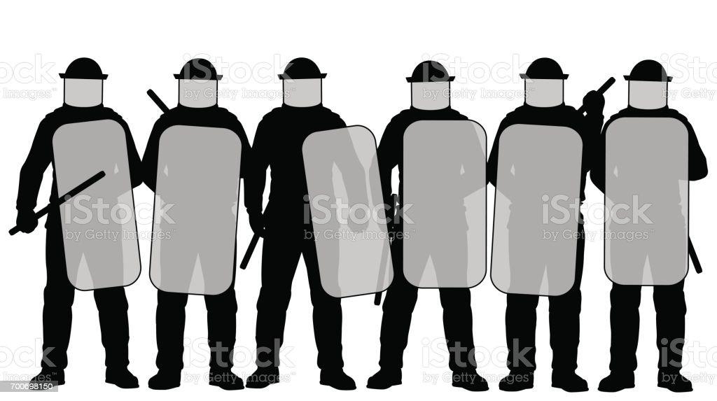 Bereitschaftspolizist – Vektorgrafik