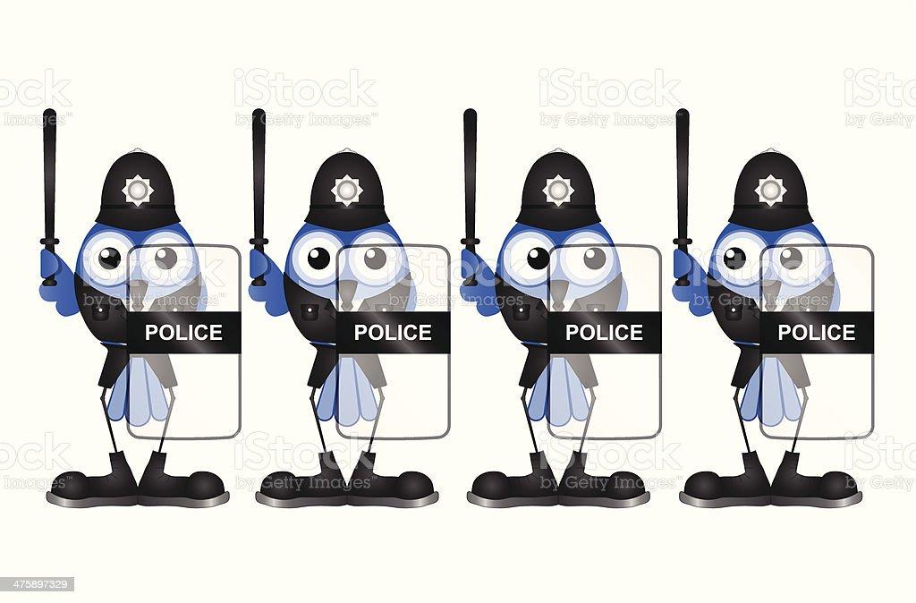 Riot policemen vector art illustration