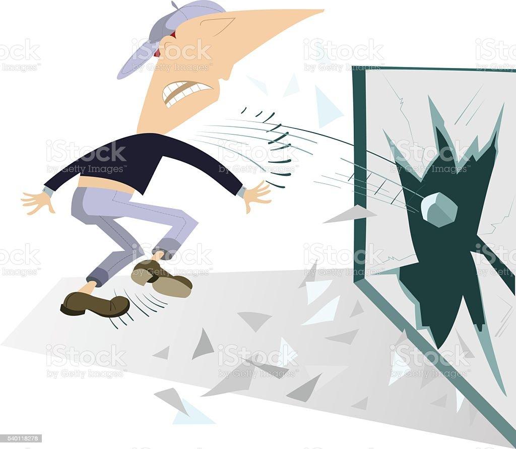 Riots vector art illustration