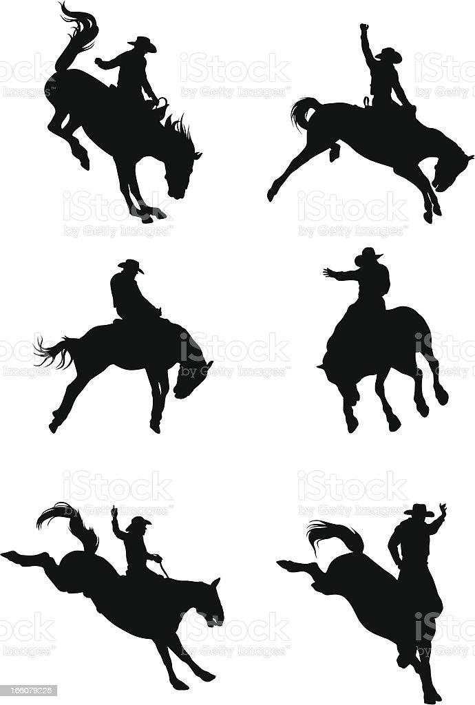 Rip Roarin' Vector Silhouette vector art illustration
