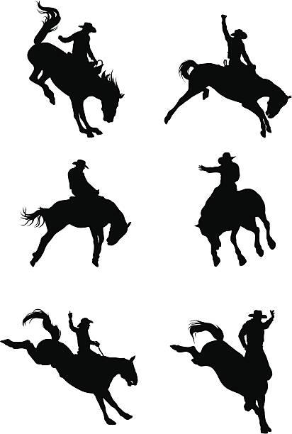 Best Bucking Bronco Illustrations, Royalty-Free Vector ...