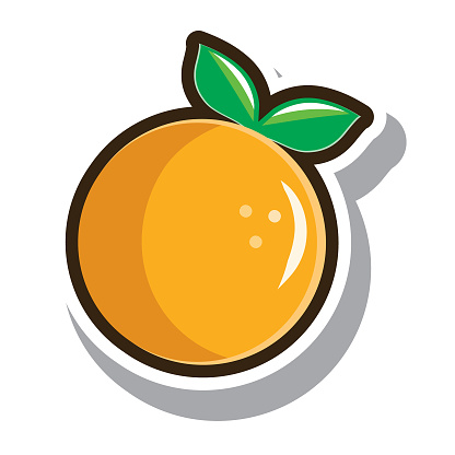 Vector illustration of a single fruit with thick dark brown outline on white background. No white box behind each icon. Fully editable. Use for healthy lifestyle infographics. Simple icons. Vector eps 10 and high resolution jpg in download.