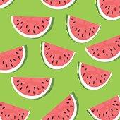 Ripe slices of the watermelon