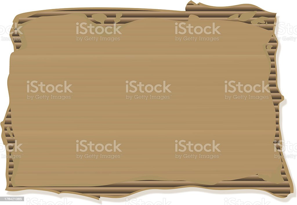 Ripped Cardboard Sign royalty-free ripped cardboard sign stock vector art & more images of brown