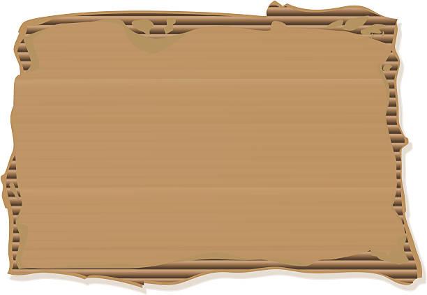 Ripped Cardboard Sign vector art illustration