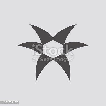 Ripped metal icon.Vector illustration.