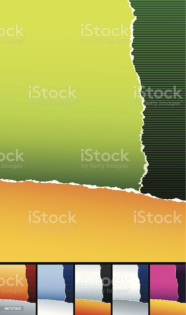 ripped paper two sheets royalty-free ripped paper two sheets stock vector art & more images of abstract