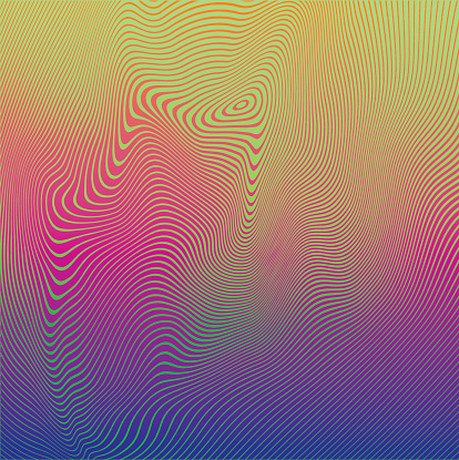 Rippled halftone pattern abstract background