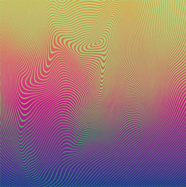 ilustrações de stock, clip art, desenhos animados e ícones de rippled halftone pattern abstract background - padrões zebra