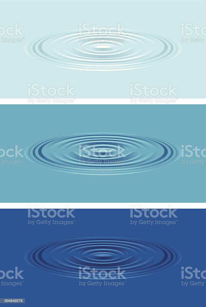Ripples on the water vector art illustration