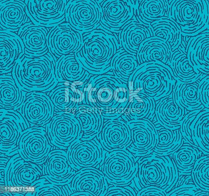Seamless abstract background with blue water ripples and design drawing design.