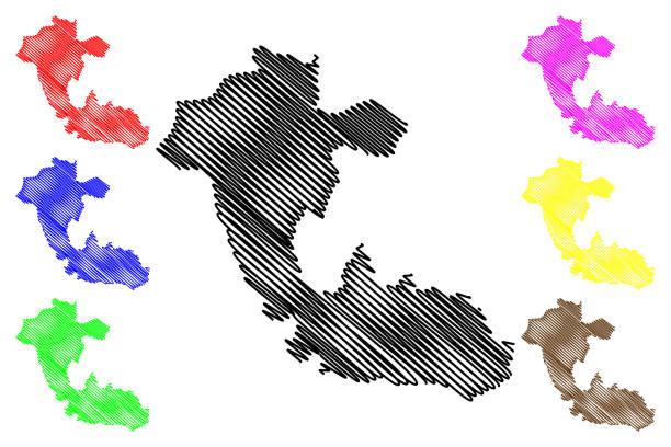 Risaralda Department map vector Risaralda Department (Colombia, Republic of Colombia, Departments of Colombia) map vector illustration, scribble sketch Department of Risaralda map pedreiro stock illustrations