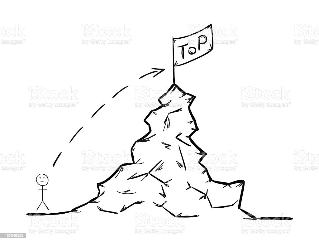 rise to the top royalty-free stock vector art