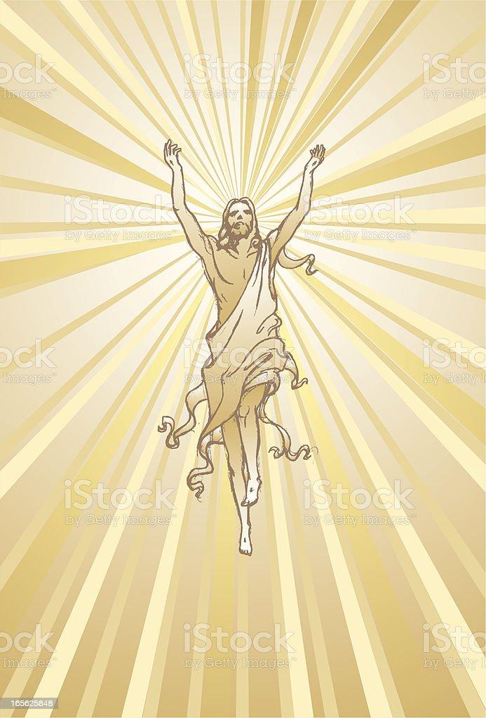 Risen Christ royalty-free risen christ stock vector art & more images of above