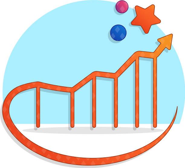 Ansteigende Kurve Erfolg – Vektorgrafik
