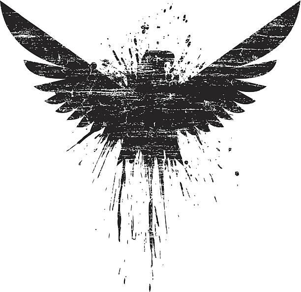 De eagle creciente - ilustración de arte vectorial