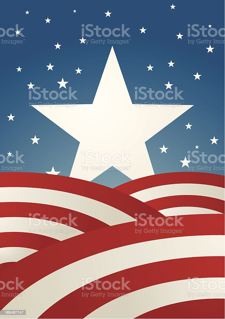 Rising star in the united states of america royalty-free stock vector art