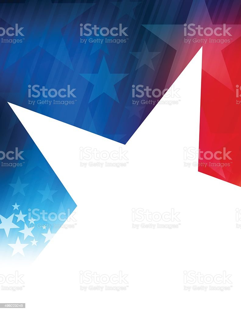 Rising star in the usa vector art illustration