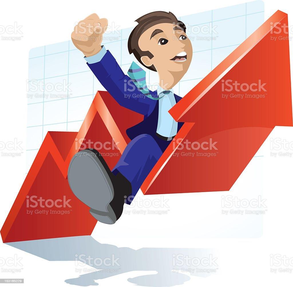 Rising Stock vector art illustration