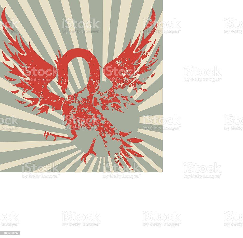 Rising sun phoenix royalty-free stock vector art