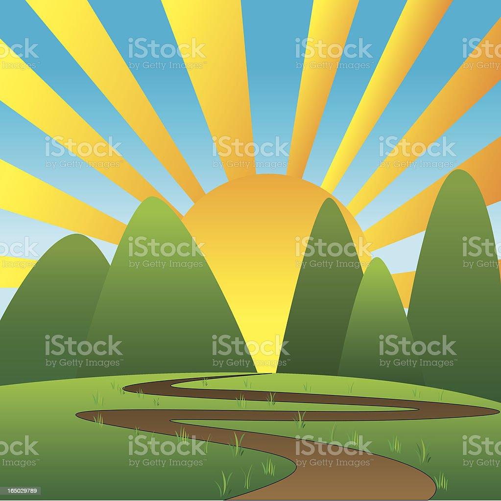 Rising sun royalty-free stock vector art