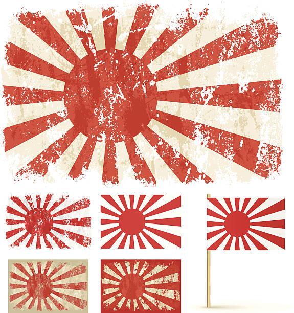 ilustraciones, imágenes clip art, dibujos animados e iconos de stock de sol naciente - bandera japonesa