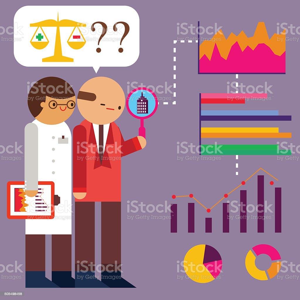 Risk Analysis vector art illustration