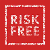 Risk Free typographic stamp