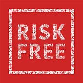 Risk Free typographic stamp