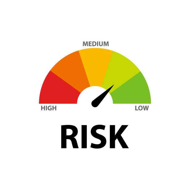 risiko-icon-tachometer flachen stil - abenteuer stock-grafiken, -clipart, -cartoons und -symbole