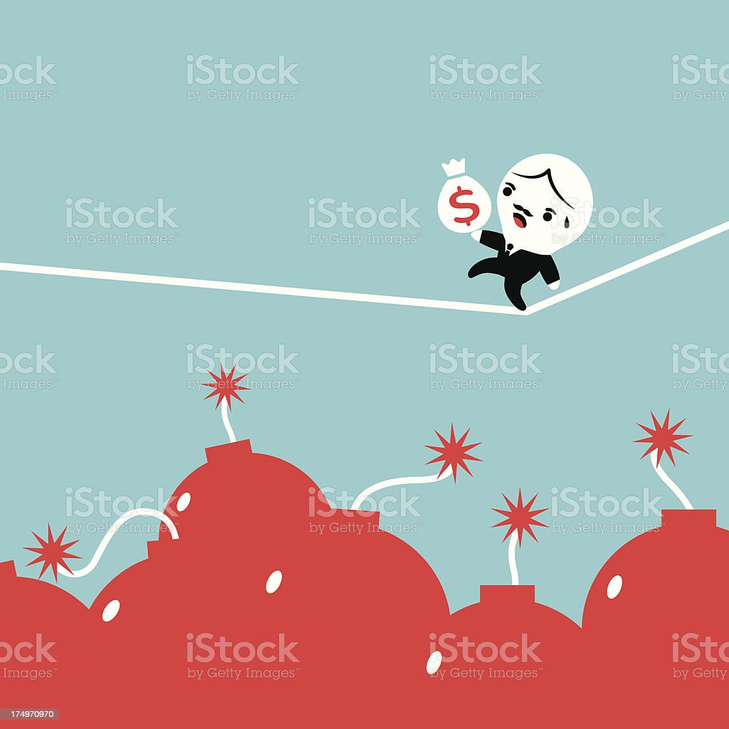 Risk in Business royalty-free stock vector art