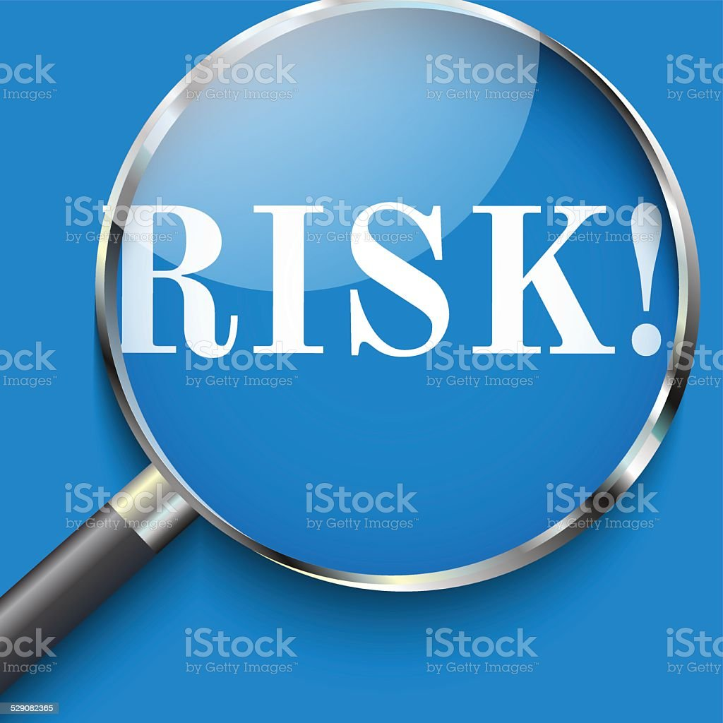 Risk in focus vector art illustration